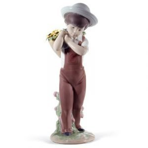 Lladro Gathering Flowers 60th Anniversary