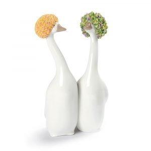 Lladro Goossiping Oranssi & Vihreä