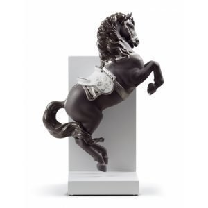 Lladro Horse On Courbette Re Deco