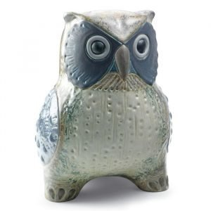 Lladro Large Owl Grey