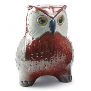 Lladro Large Owl Red