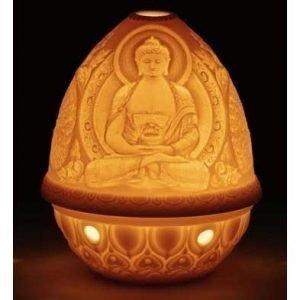 Lladro Lithophane Votive Light Buddha