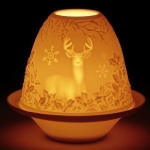 Lladro Lithophane Votive Light Deer