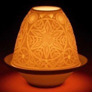 Lladro Lithophane Votive Light Snowflake