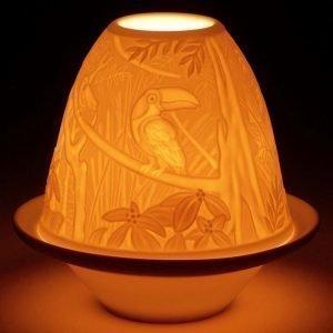 Lladro Lithophane Votive Light Toucans