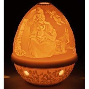 Lladro Litophane Votive Light Nativity