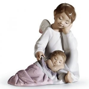 Lladro My Guardian Angel Pink