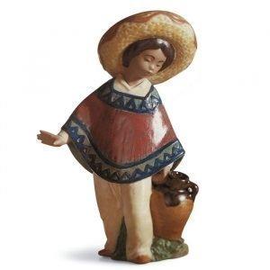 Lladro Pedro With Jug Gres