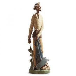 Lladro Quixote Standing Up Gres