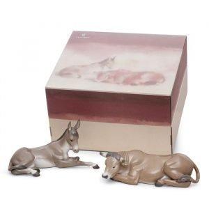 Lladro Set Animals At Bethlehem Porcelain
