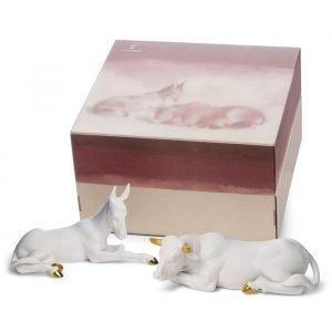 Lladro Set Animals At Bethlehem Re Deco
