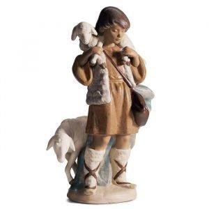 Lladro Shepherd Boy Gres