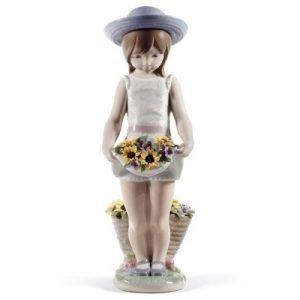 Lladro Skirt Full Of Flowers 60th Anniversary