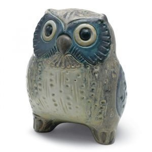 Lladro Small Owl Grey