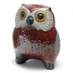 Lladro Small Owl Red