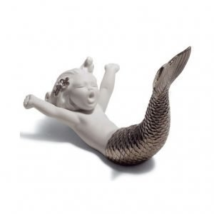 Lladro Waking Up At Sea Silver Re Deco