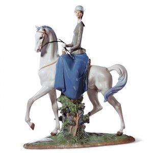 Lladro Woman On Horse