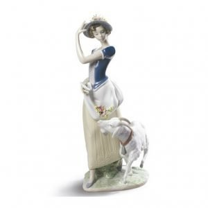 Lladro Young Shepherdess