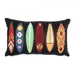 Lulu Carter Design Boarderline Tyynynpäällinen Suuret Laudat Musta