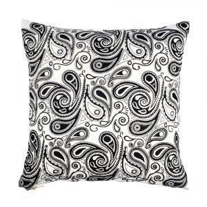 Lulu Carter Design Paisley Paranoia Tyynynpäällinen Musta / Valkoinen