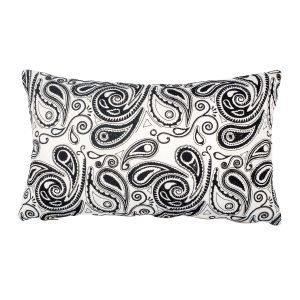 Lulu Carter Design Paisley Paranoia Tyynynpäällinen Valkoinen / Musta