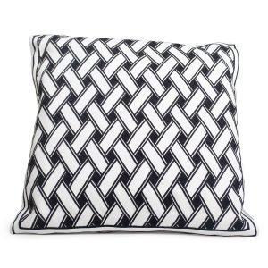 Lulu Carter Design Ribbon 2 Tyynynpäällinen Valkoinen / Musta 50x50 Cm