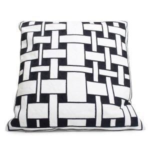 Lulu Carter Design Ribbon 3 Tyynynpäällinen Valkoinen / Musta 50x50 Cm