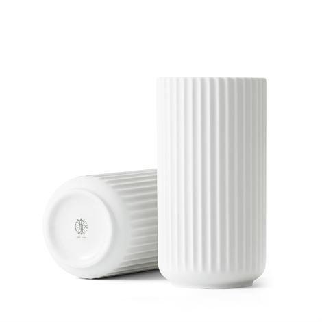 Lyngby Porcelæn Maljakko Valkoinen Matta 20 cm
