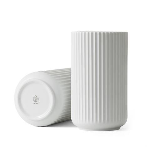 Lyngby Porcelæn Maljakko Valkoinen Matta 25 cm