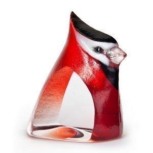 Målerås Glasbruk Birdie Punainen