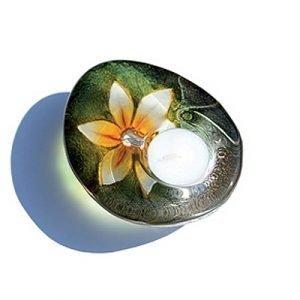 Målerås Glasbruk Delight Flora Keltainen