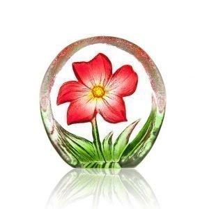 Målerås Glasbruk Floral Fanasy Miniatyr Anemone Punainen