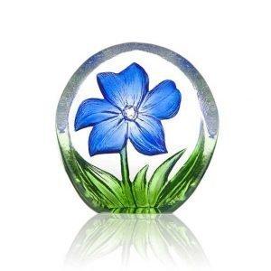 Målerås Glasbruk Floral Fanasy Miniatyr Anemone Sininen