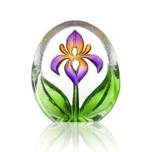 Målerås Glasbruk Floral Fanasy Miniatyr Lilja Violetti