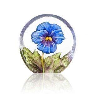 Målerås Glasbruk Floral Fanasy Miniatyr Orvokki Sininen