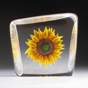 Målerås Glasbruk Floral Fantasy Auringonkukka Keltainen