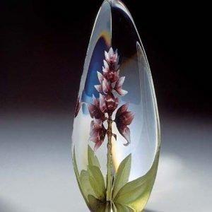 Målerås Glasbruk Floral Fantasy Orchid Punainen
