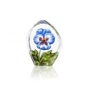Målerås Glasbruk Floral Fantasy Orvokki Sininen