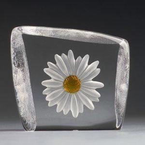 Målerås Glasbruk Floral Fantasy Päivänkakkara Puhallettu / Keltainen