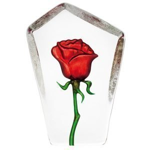 Målerås Glasbruk Floral Fantasy Ruusu