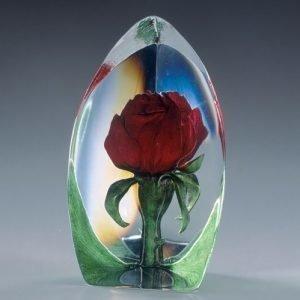 Målerås Glasbruk Floral Fantasy Ruusu Punainen