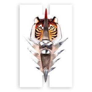 Målerås Glasbruk Iron & Crystal The Hunter Ltd Ed 65x101 Cm