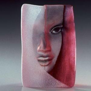 Målerås Glasbruk Masq Mazzai Punainen