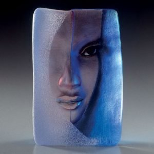 Målerås Glasbruk Masq Mazzai Sininen