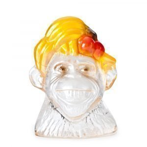 Målerås Glasbruk Monkey Business Smiley Maalattu