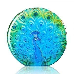 Målerås Glasbruk Peacock Vihreä