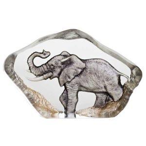 Målerås Glasbruk Safari Miniatyyri Elefantti