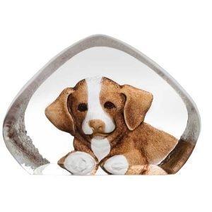 Målerås Glasbruk Safari Miniatyyri Koira