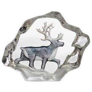 Målerås Glasbruk Safari Miniatyyri Poro
