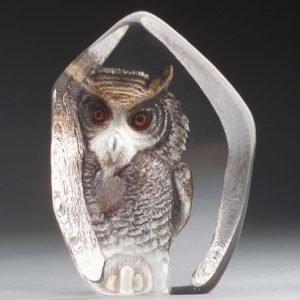 Målerås Glasbruk Safari Pöllö